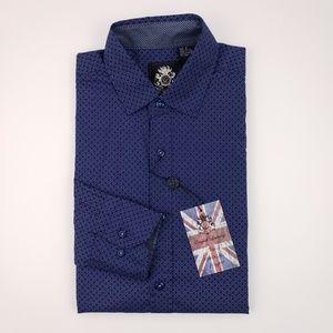 English Laundry Shirt Small Blue New Nwt Slim Fit